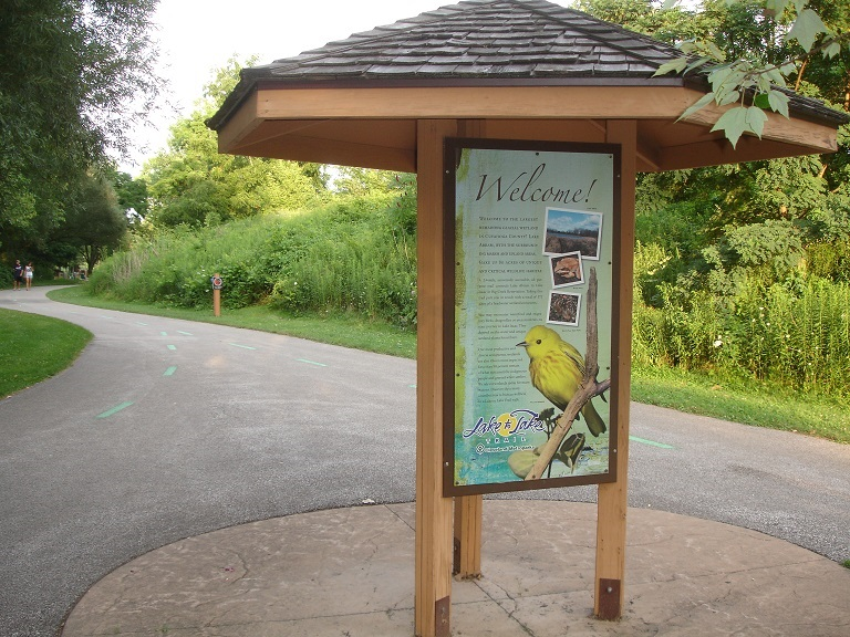 Hike and bike on nature trails in the Metro Parks Lake to Lake reservation