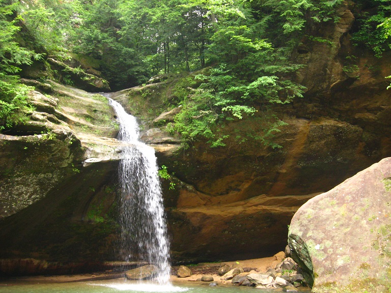 Lower falls at Old Man's Cave  - Hocking Hills State Park